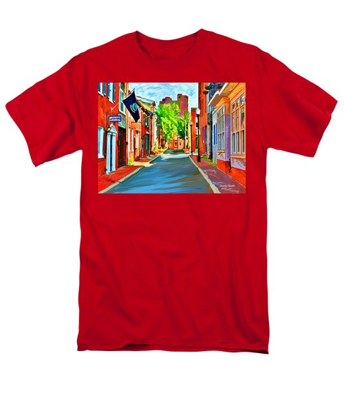 Streetscape in Federal Hill T-Shirt by Stephen Younts