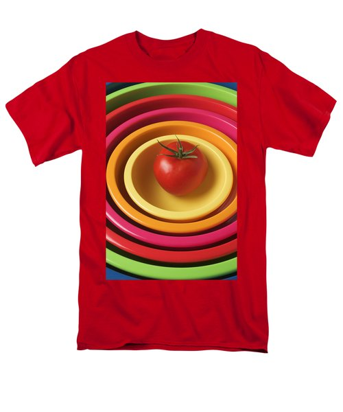 Tomato in mixing bowls T-Shirt by Garry Gay