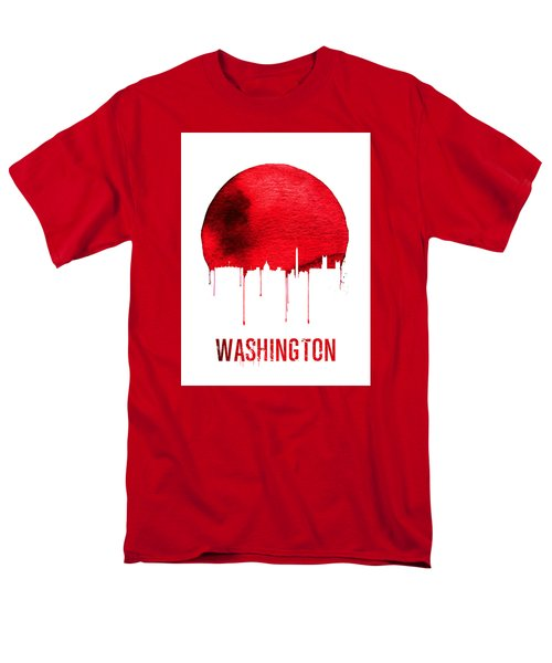 Washington Skyline Red Men's T-Shirt  (Regular Fit) by Naxart Studio