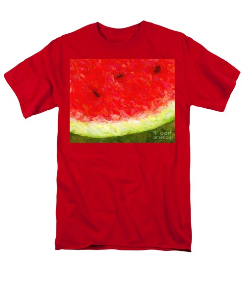 Watermelon With Three Seeds T-Shirt by Wingsdomain Art and Photography