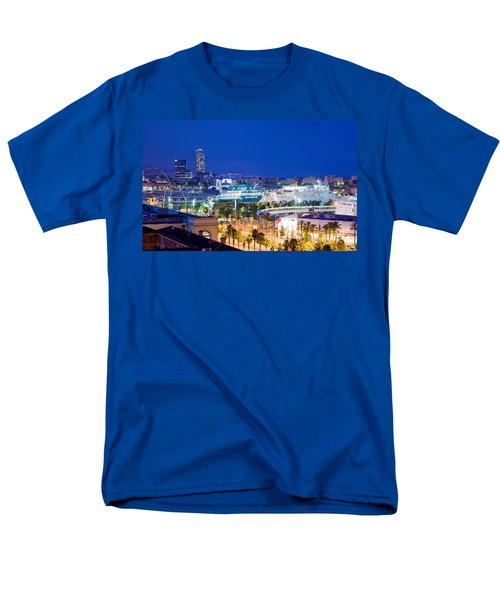 Barcelona and its skyline at night T-Shirt by Michal Bednarek