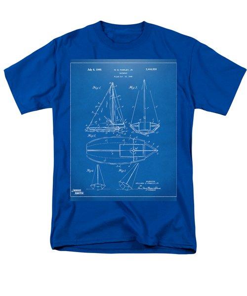 1948 Sailboat Patent Artwork - Blueprint T-Shirt by Nikki Marie Smith