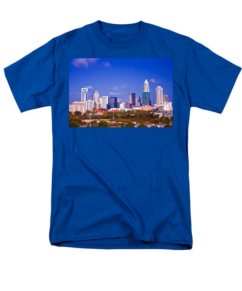 Skyline of uptown Charlotte North Carolina at night T-Shirt by Alexandr Grichenko