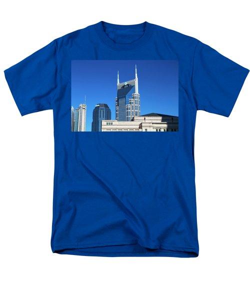 Batman Building And Nashville Skyline Men's T-Shirt  (Regular Fit) by Dan Sproul