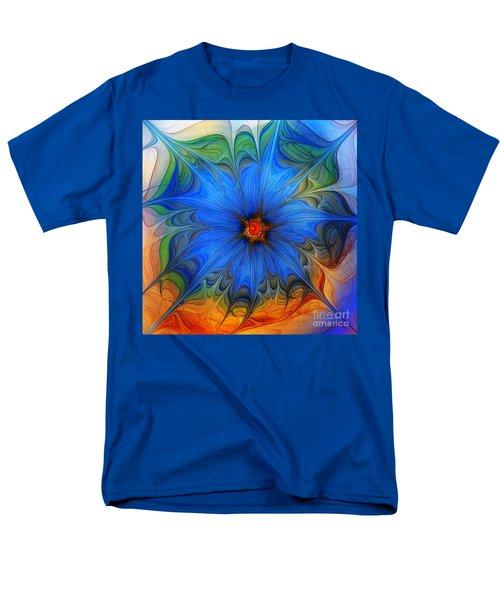 Blue Flower Dressed For Summer T-Shirt by Karin Kuhlmann