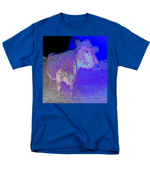 blue mooh T-Shirt by Hilde Widerberg