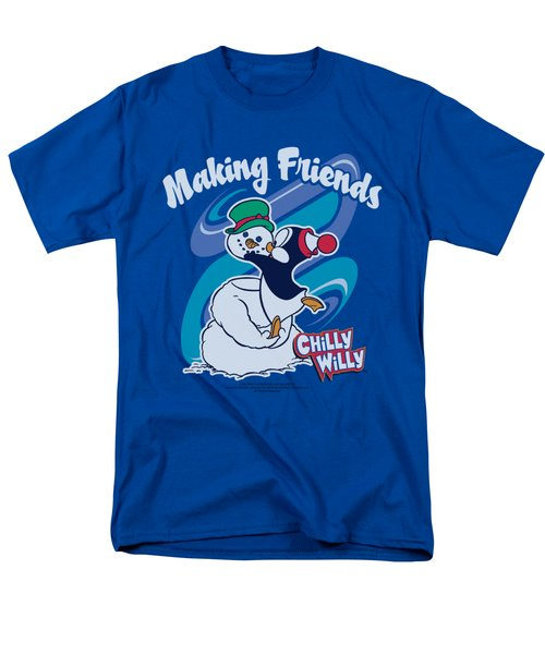 Chilly Willy - Making Friends Men's T-Shirt  (Regular Fit) by Brand A