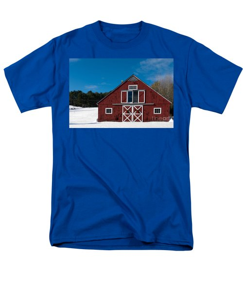 Christmas Barn T-Shirt by Edward Fielding