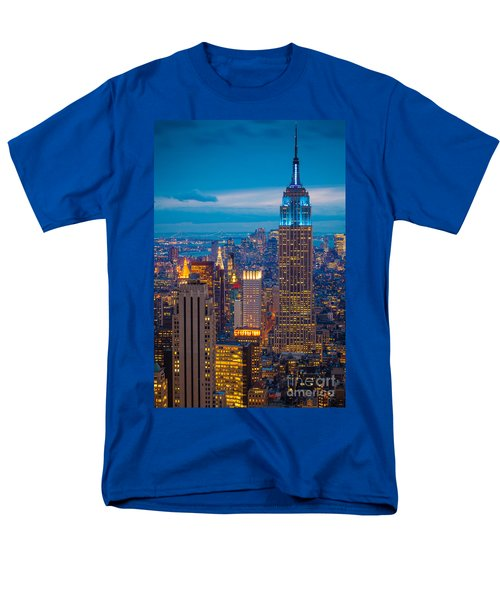 Empire State Blue Night Men's T-Shirt  (Regular Fit) by Inge Johnsson