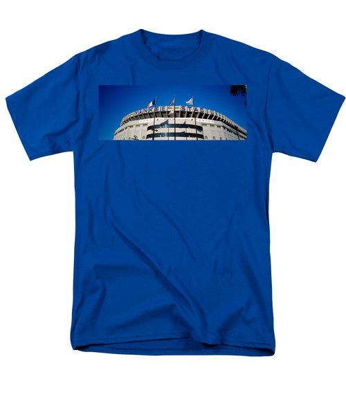 Flags In Front Of A Stadium, Yankee Men's T-Shirt  (Regular Fit) by Panoramic Images