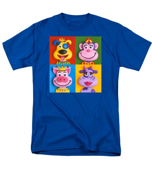 Four Animal Faces T-Shirt by Amy Vangsgard