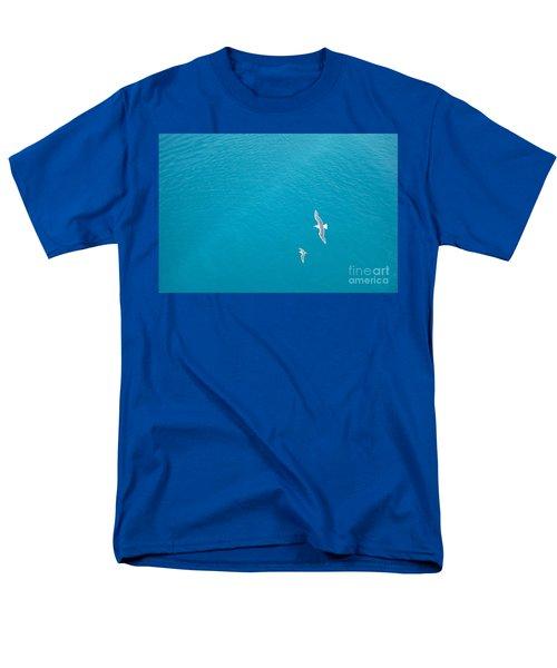Gliding Seagulls T-Shirt by Jacqueline Athmann