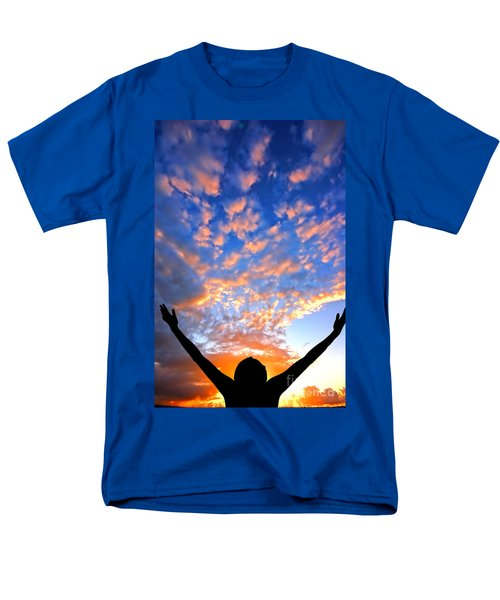 Hands up to the sky showing happiness T-Shirt by Michal Bednarek