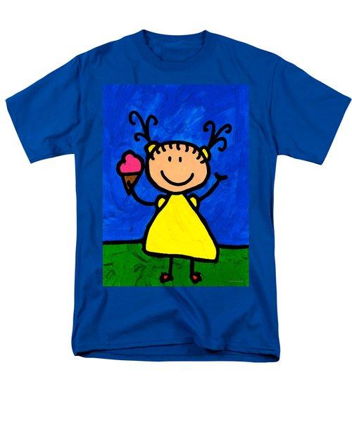 Happi Arte 3 - Little Girl Ice Cream Cone Art T-Shirt by Sharon Cummings