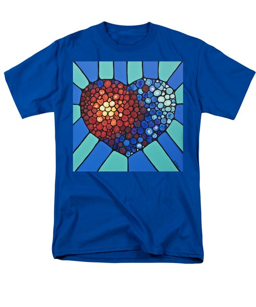 Heart Art - Love Conquers All 2  T-Shirt by Sharon Cummings