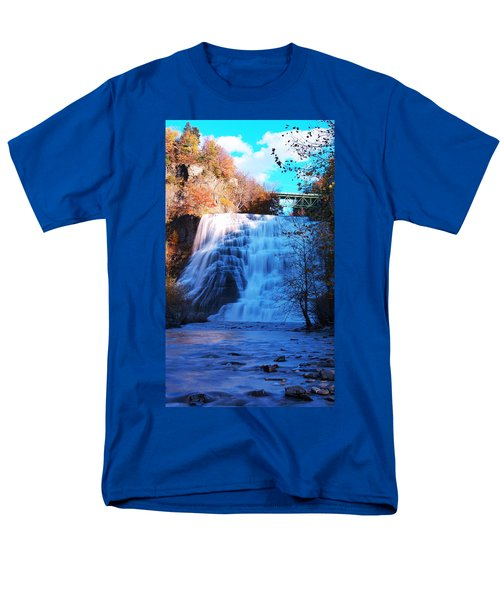 Ithaca water falls New York Panoramic photography T-Shirt by Paul Ge