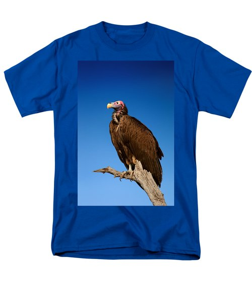Lappetfaced Vulture Against Blue Sky Men's T-Shirt  (Regular Fit) by Johan Swanepoel