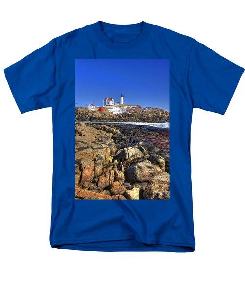 Nubble Lighthouse T-Shirt by Joann Vitali