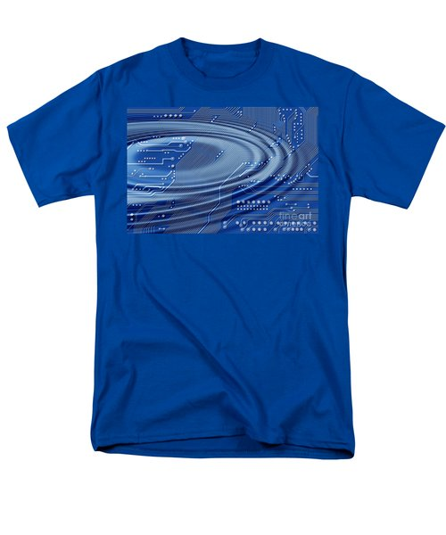 printed circuit with waves T-Shirt by Michal Boubin