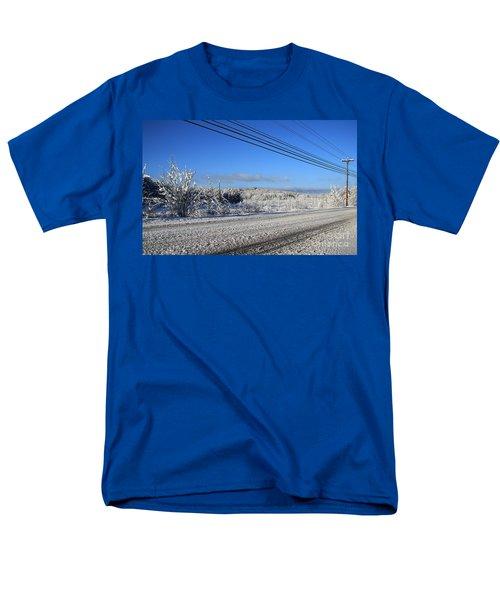 Snowy Roads T-Shirt by Michael Mooney