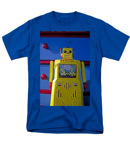 Yellow robot in front of drawers T-Shirt by Garry Gay
