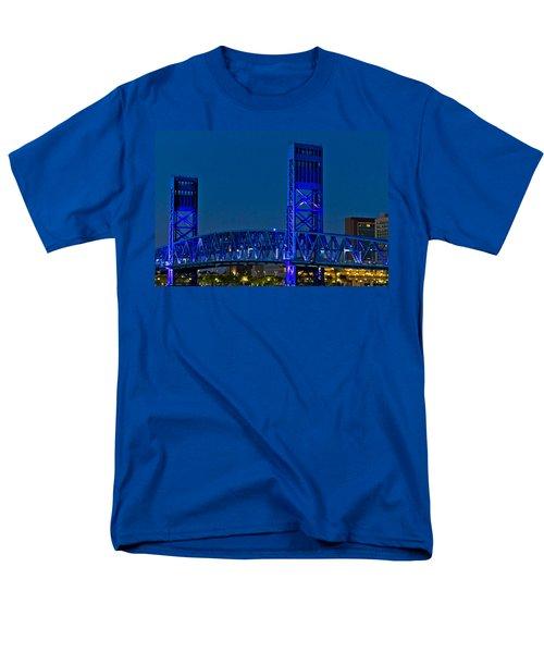 Main Street Bridge Jacksonville T-Shirt by Debra and Dave Vanderlaan