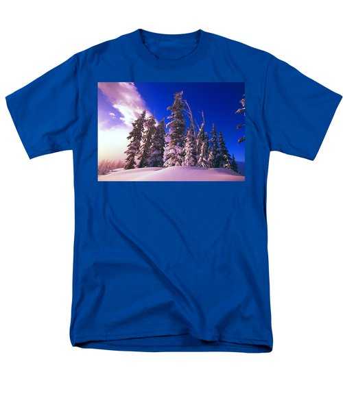Sunrise Over Snow-covered Pine Trees T-Shirt by Natural Selection Craig Tuttle