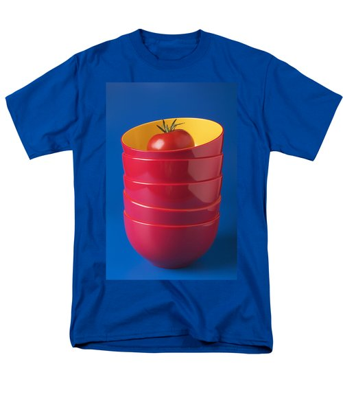 Tomato In Stacked Bowls T-Shirt by Garry Gay