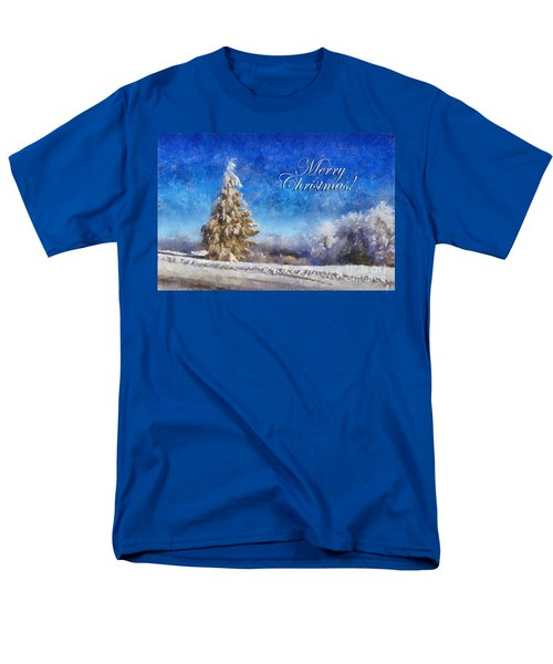Wintry Christmas Tree Greeting Card T-Shirt by Lois Bryan