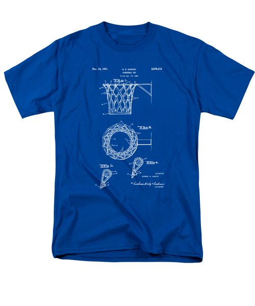1951 Basketball Net Patent Artwork - Blueprint Men's T-Shirt  (Regular Fit) by Nikki Marie Smith