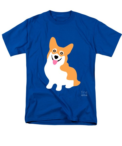 Smiling Corgi Pup Men's T-Shirt  (Regular Fit) by Antique Images