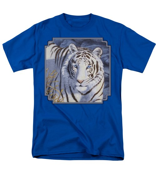 White Tiger - Crystal Eyes Men's T-Shirt  (Regular Fit) by Crista Forest