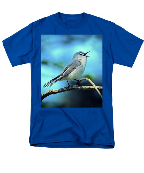 Men's T-Shirt  (Regular Fit) featuring the photograph Blue-gray Gnatcatcher by Rodney Campbell