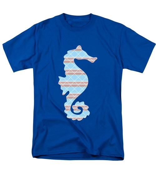 Blue Seahorse Art Men's T-Shirt  (Regular Fit) by Christina Rollo
