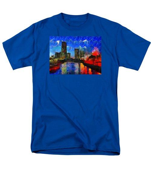 City Living - Tokyo - Skyline Men's T-Shirt  (Regular Fit) by Sir Josef - Social Critic - ART