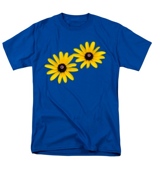 Double Daisies Men's T-Shirt  (Regular Fit) by Christina Rollo