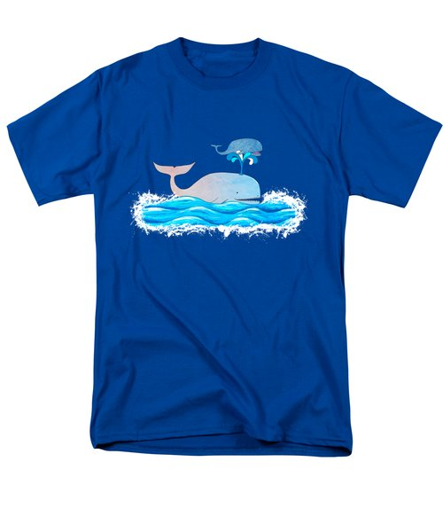 How Whales Have Fun Men's T-Shirt  (Regular Fit) by Shawna Rowe