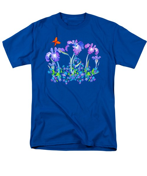 Iris Bouquet With Forget Me Nots Men's T-Shirt  (Regular Fit) by Teresa Ascone