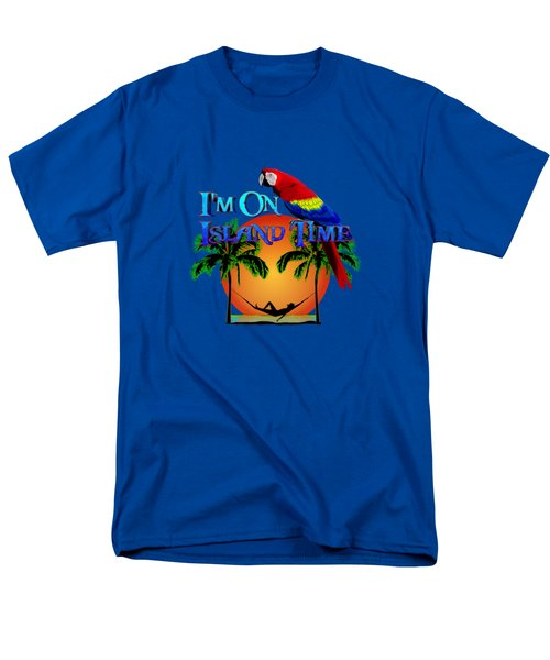 Island Time And Parrot Men's T-Shirt  (Regular Fit) by Chris MacDonald