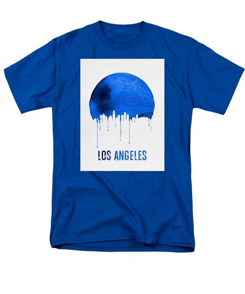 Los Angeles Skyline Blue Men's T-Shirt  (Regular Fit) by Naxart Studio