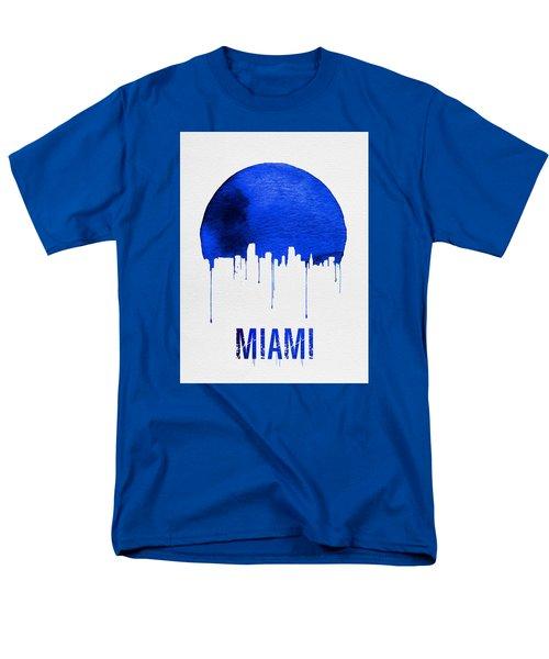 Miami Skyline Blue Men's T-Shirt  (Regular Fit) by Naxart Studio