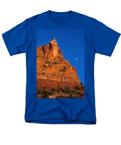 Moonrise over Red Rock T-Shirt by Mike  Dawson