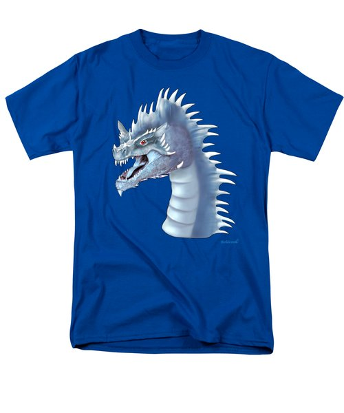 Mystical Ice Dragon Men's T-Shirt  (Regular Fit) by Glenn Holbrook