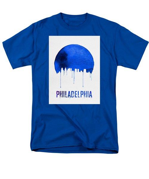 Philadelphia Skyline Blue Men's T-Shirt  (Regular Fit) by Naxart Studio