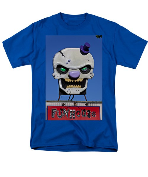 Skull Fun House Sign T-Shirt by Garry Gay