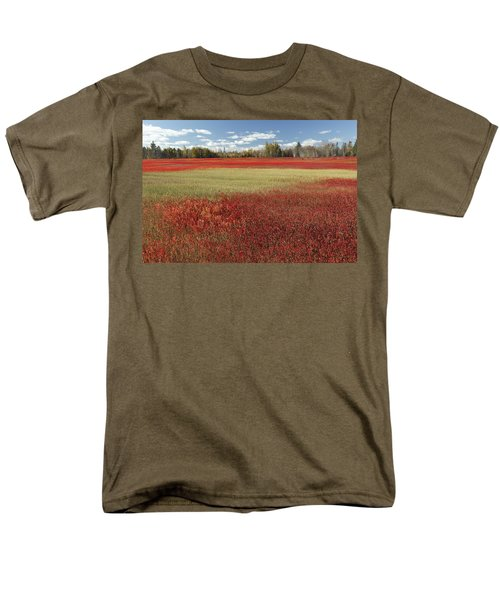 Autumn Blueberry Field Maine T-Shirt by Scott Leslie
