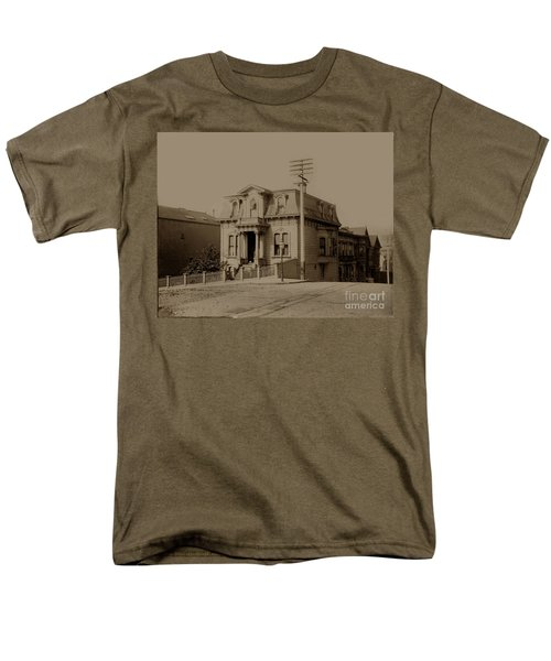 Clay and Hyde street's San Francisco Built in 1874 burned in the 1906 fire T-Shirt by California Views Mr Pat Hathaway Archives