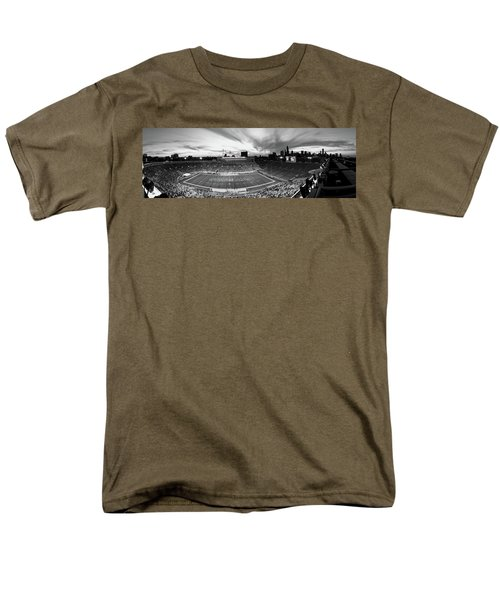 Soldier Field Football, Chicago Men's T-Shirt  (Regular Fit) by Panoramic Images