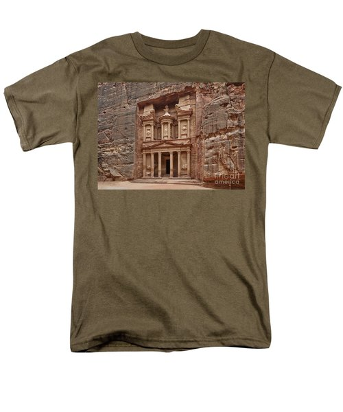 the treasury Nabataean ancient town Petra T-Shirt by Juergen Ritterbach
