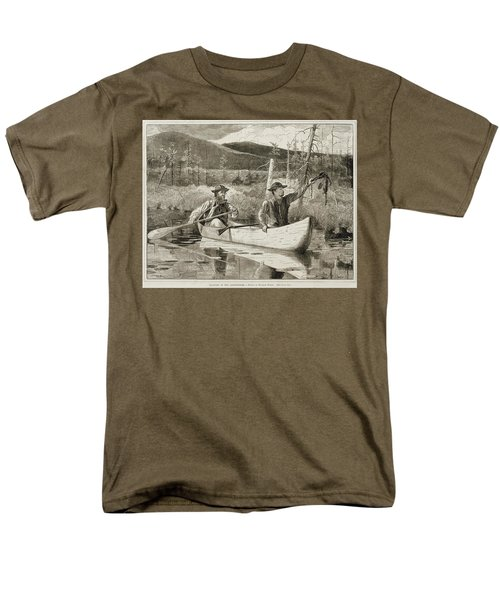 Trapping in the Adirondacks T-Shirt by Winslow Homer